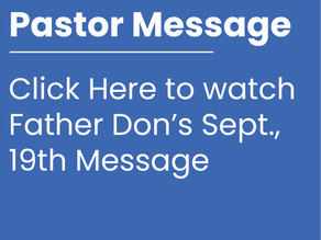 Pastor Message (Sept., 19th)