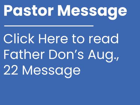 Pastor Message