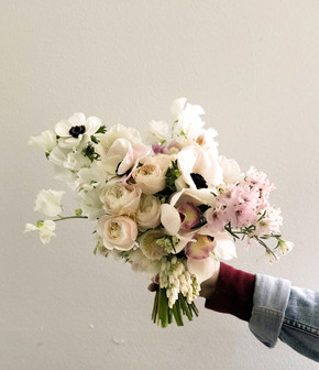soft pastels layered bouquet