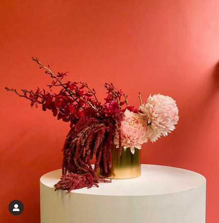 Coral and peach structured vase