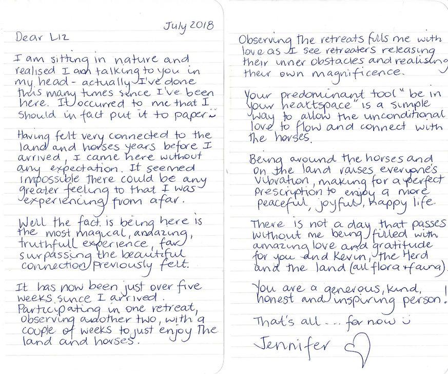 Letter from Jennifer