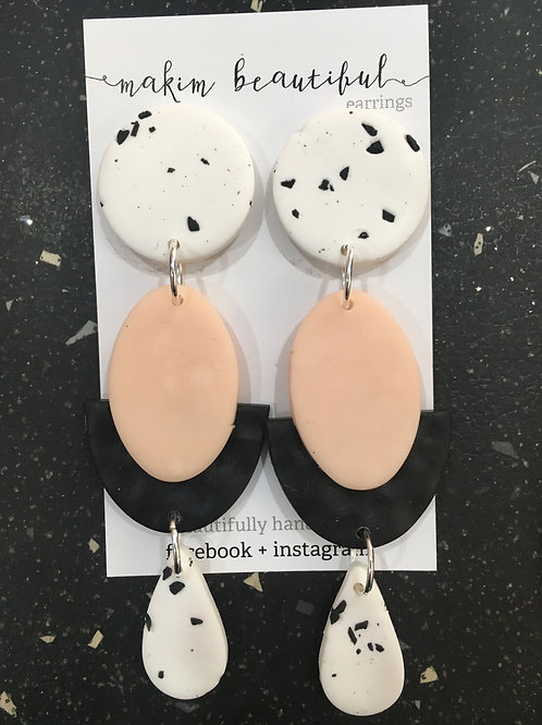 """Blush"" earrings by Makim Beautiful"