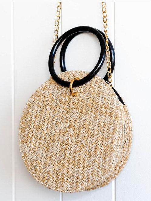Woven Round Bag -Natural