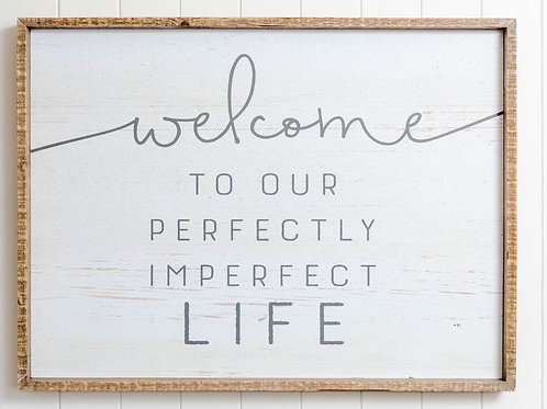 Quote Wall Art - Perfectly Imperfect Life - 60cm x 80cm