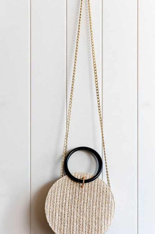 Woven Round Bag - Light
