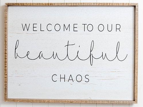 Quote Wall Art - Beautiful Chaos - 80cm x 60cm
