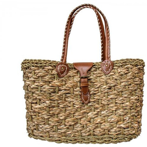 Woven Bag with Buckle