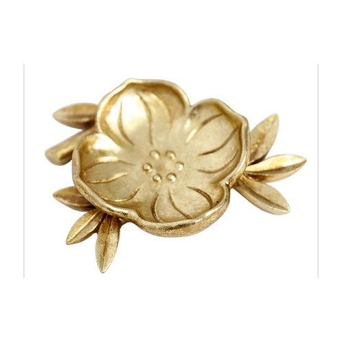 Flourish Gold Leaf Trinket dish