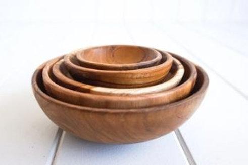 Teak Stacking Bowls
