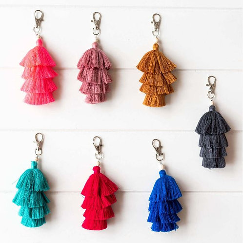 Tassel Keychain - Available in 3 colours