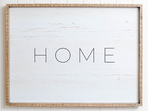 Quote Wall Art - Home Framed Sign 80cm x 60cm