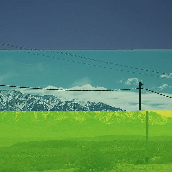 Mountains behind the electric wires in Argentina from Electric Mountain