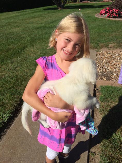 Morgan & her new pup Chloe