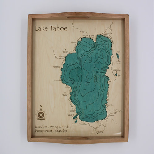 3D LASER CUT SERVING TRAY - LAKE TAHOE
