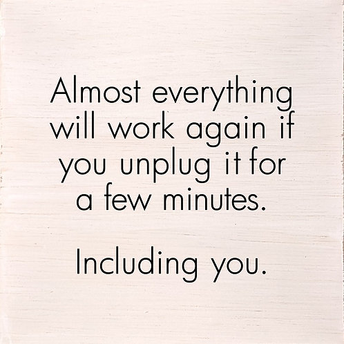 ALMOST EVERYTHING WILL WORK IF YOU UNPLUG IT FOR A FEW MINTES. INCLUDING YOU.