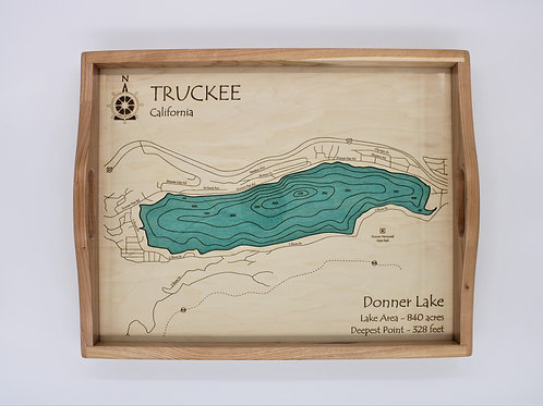 3D LASER CUT SERVING TRAY - DONNER LAKE