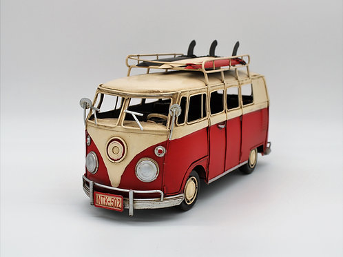 RED & WHITE SURFER VAN