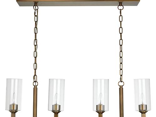 TORCHIER 4 LIGHT CHANDELIER - Antique Brass
