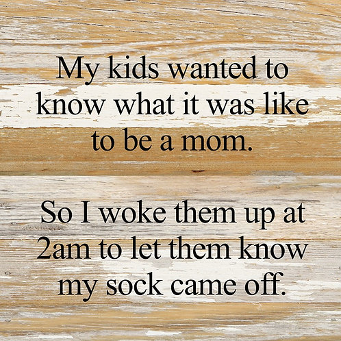 MY KIDS WANTED TO KNOW WHAT IT WAS LIKE TO BE A MOM.