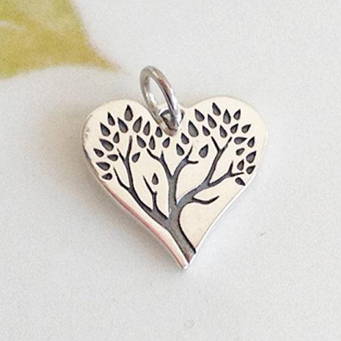 HEART TREE CHARM