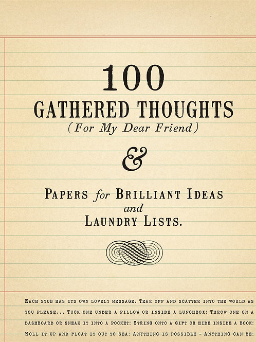 100 GATHERED THOUGHTS...