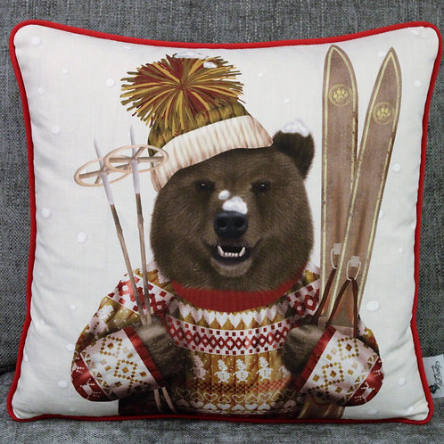 BEAR WITH SKIS