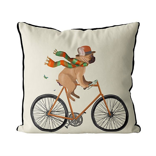 FRENCH BULLDOG ON A BICYCLE