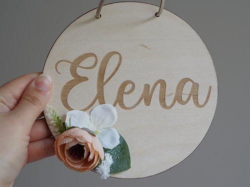 Namensschild /Elena