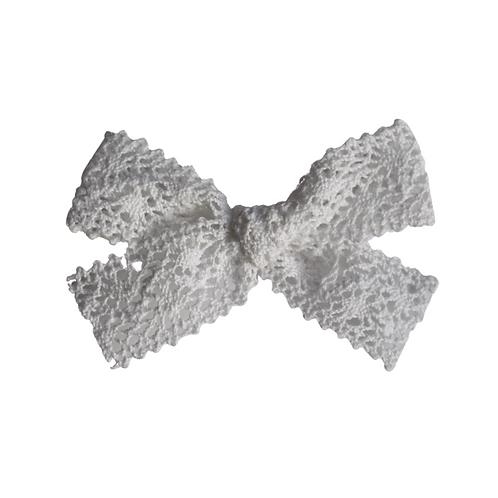 Spitzen Schleife/ Knotted Weiß