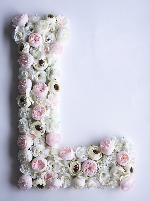 Blumen Buchstabe /Pink Peonies