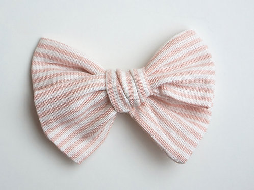 Knotted /Pastel Stripes Apricot