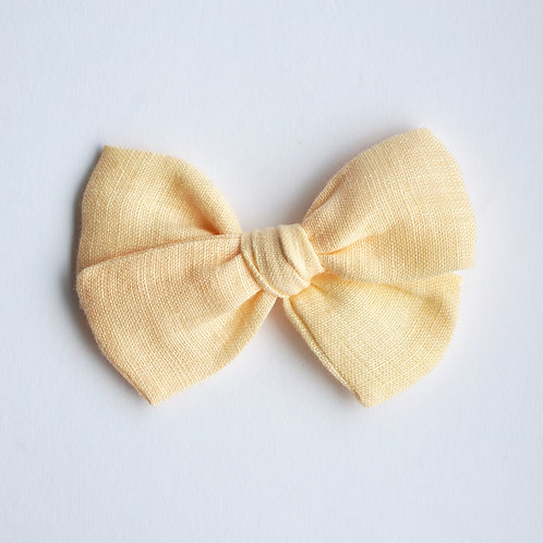 Mini Knotted /Linen Lemon