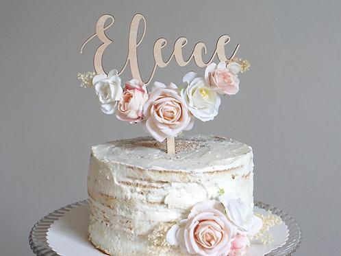 Cake Topper / Vintage Flowers