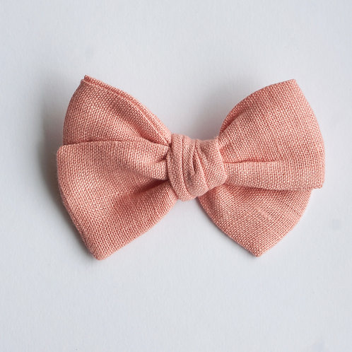Mini Knotted /Linen Coral