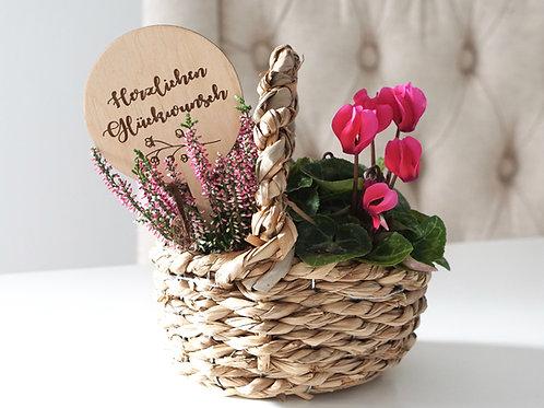 Blumentopf Stecker / Herzlichen Glückwunsch