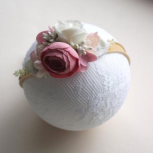 Blumen Haarband/Pink Peony