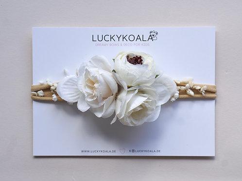 Blumen Haarband/White Blossom