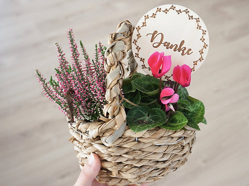 Blumentopf Stecker / Danke