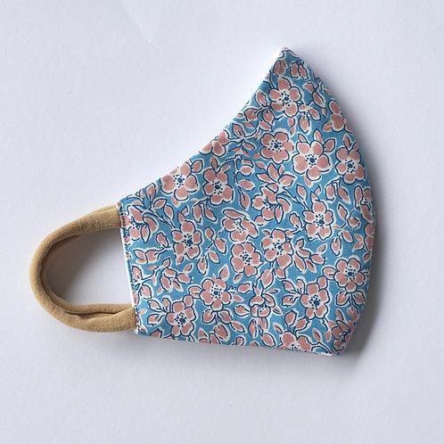 Stoffmaske/Blue Floral