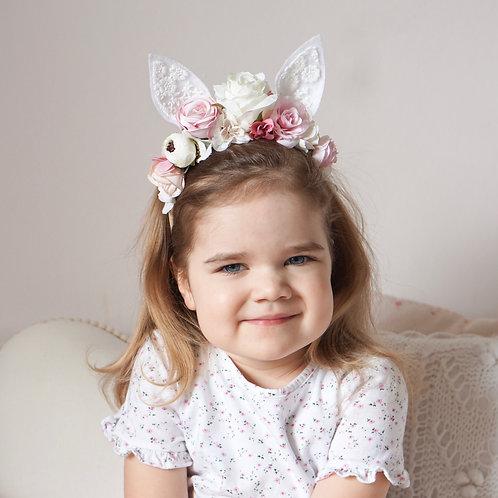Blumen Haarband/Dreamy Bunny