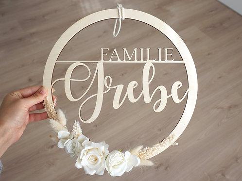 Familienschild/ Weiß
