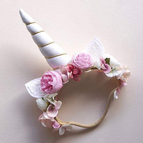 Blumen Haarband/ Unicorn