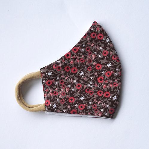 Stoffmaske/Brown Flowers