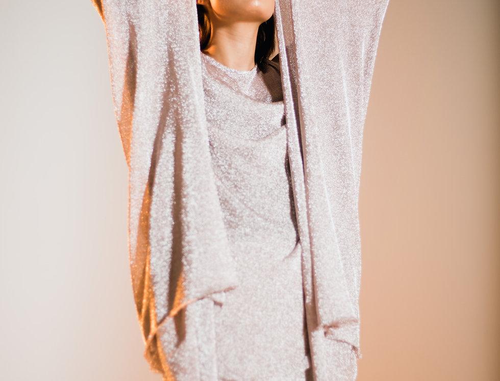 Silver Boa Side Split Skirt