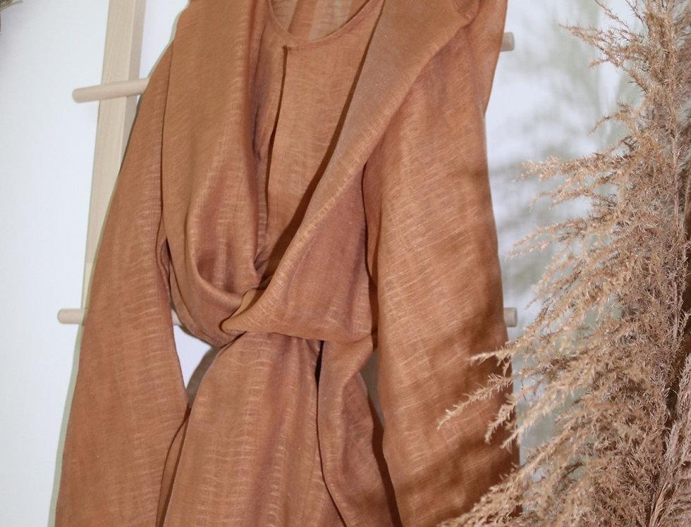 Terra cotta organza abaya