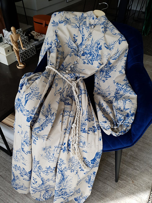 "Matryoshka ""Toile de Jouy"" dress"