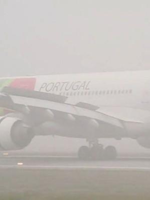MAU TEMPO EM LISBOA OBRIGA A DESVIO DE AVIÕES PARA O AEROPORTO DO PORTO