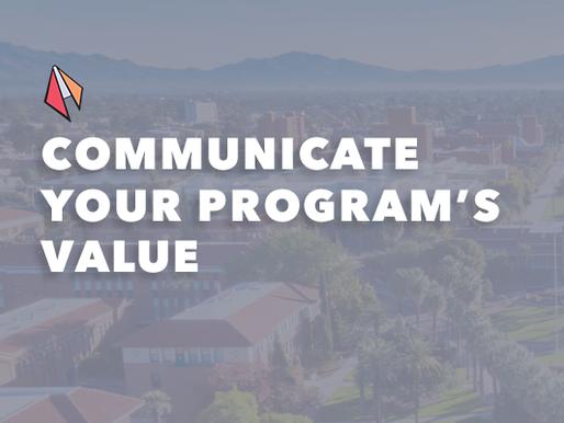 Communicate Your Program's Value