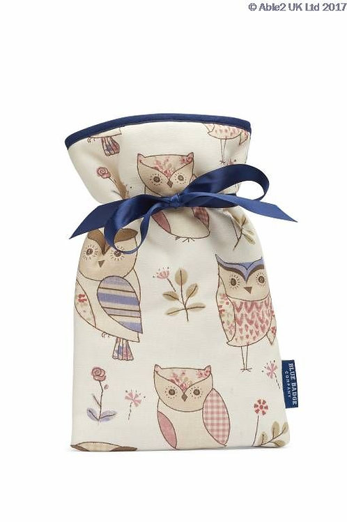 Blue Badge Mini Hot Water Bottle - Hoot Owls