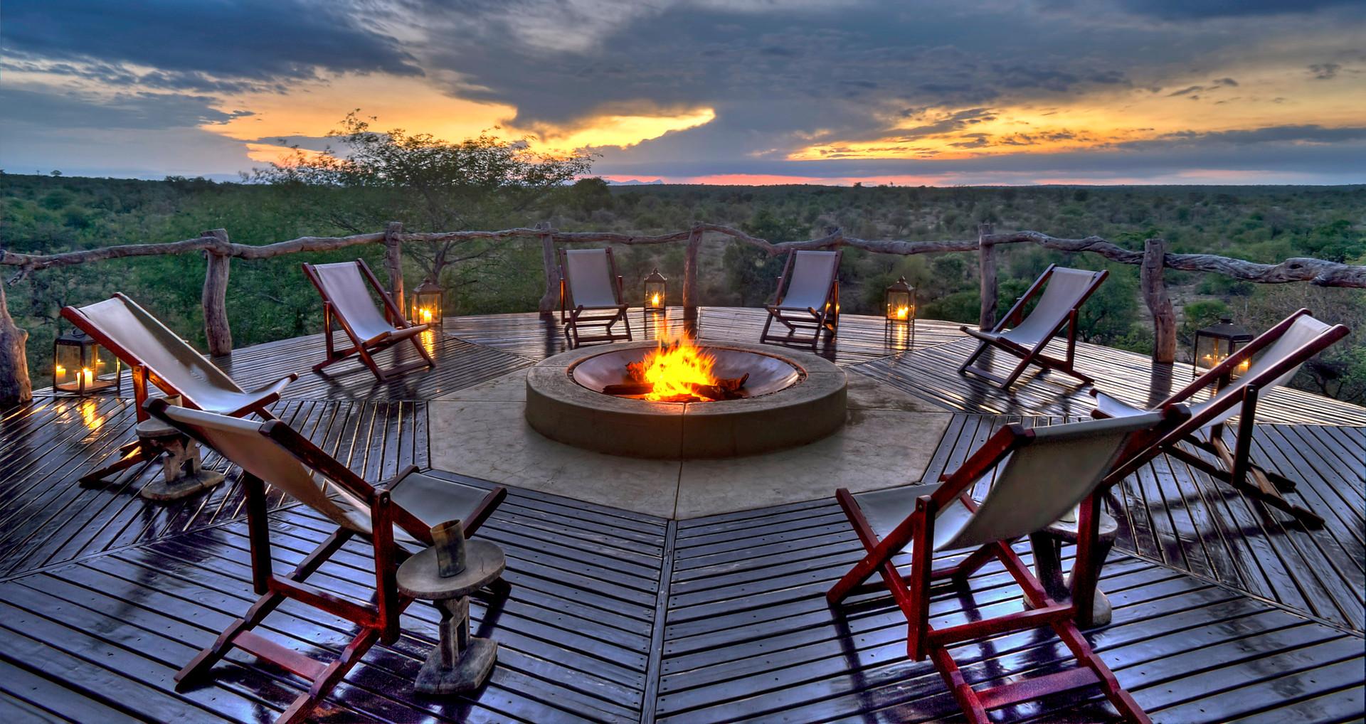 Boma at Makumu Game Lodge, Kruger National Park